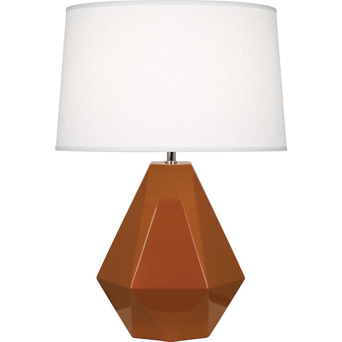 Robert Abbey Delta 1 Light Table Lamp, Cinnamon/Polished Nickel - 944
