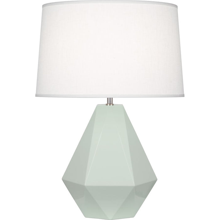Robert Abbey Delta 1 Light Table Lamp, Celadon/Polished Nickel - 947