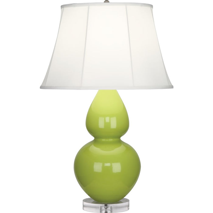 Robert Abbey Double Gourd 1 Light Table Lamp, Apple/Lucite Base, Ivory - A673