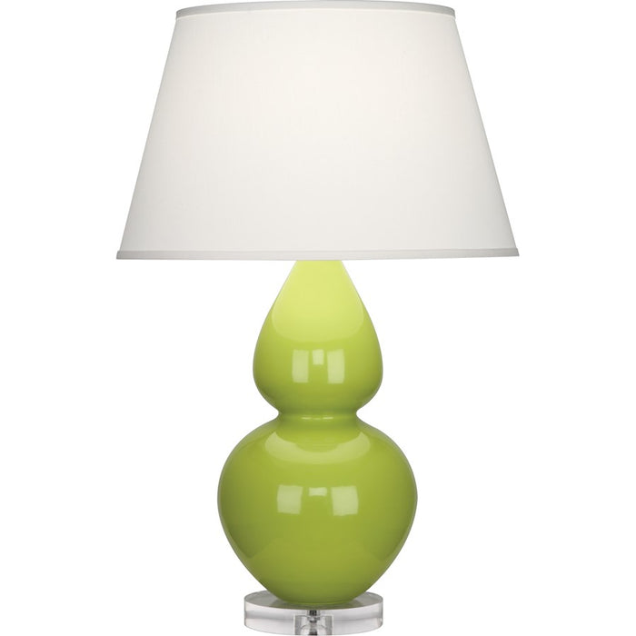 Robert Abbey Double Gourd 1 Light Table Lamp, Apple/Lucite Base, Pearl - A673X