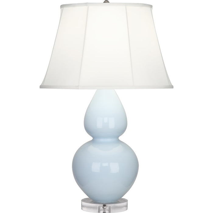 Robert Abbey Double Gourd Table Lamp, Baby Blue/Lucite Base, Ivory - A676