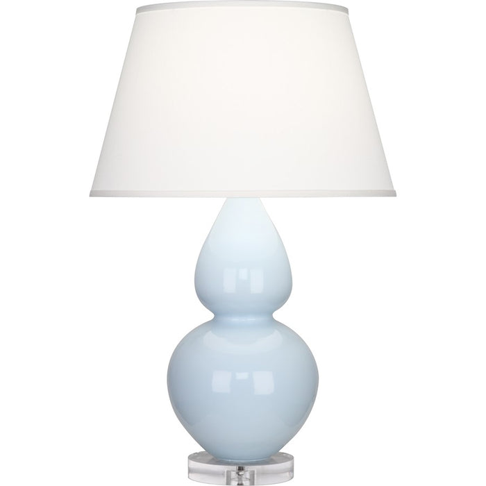 Robert Abbey Double Gourd Table Lamp, Baby Blue/Lucite Base, Pearl - A676X