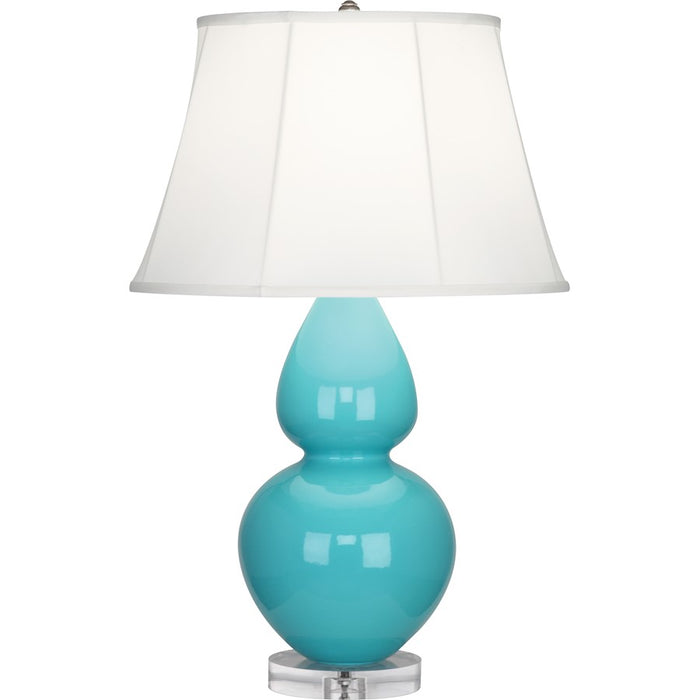 Robert Abbey Double Gourd 1 Light Table Lamp, Egg Blue/Lucite Base - A741