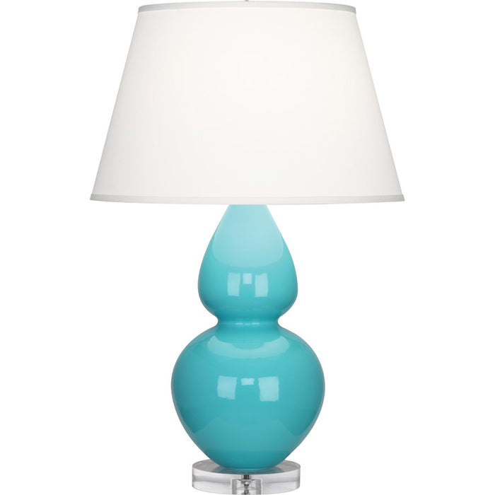 Robert Abbey Double Gourd Table Lamp, Egg Blue/Lucite Base, Pearl - A741X