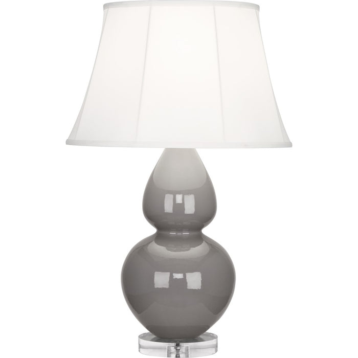 Robert Abbey Double Gourd 1 Light Table Lamp, Smoky Taupe/Lucite Base - A750