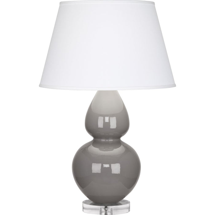 Robert Abbey Double Gourd Table Lamp, Smoky Taupe/Lucite Base, Pearl - A750X