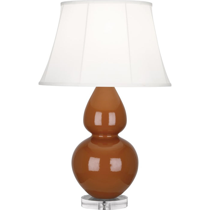Robert Abbey Double Gourd 1 Light Table Lamp, Cinnamon/Lucite Base - A759