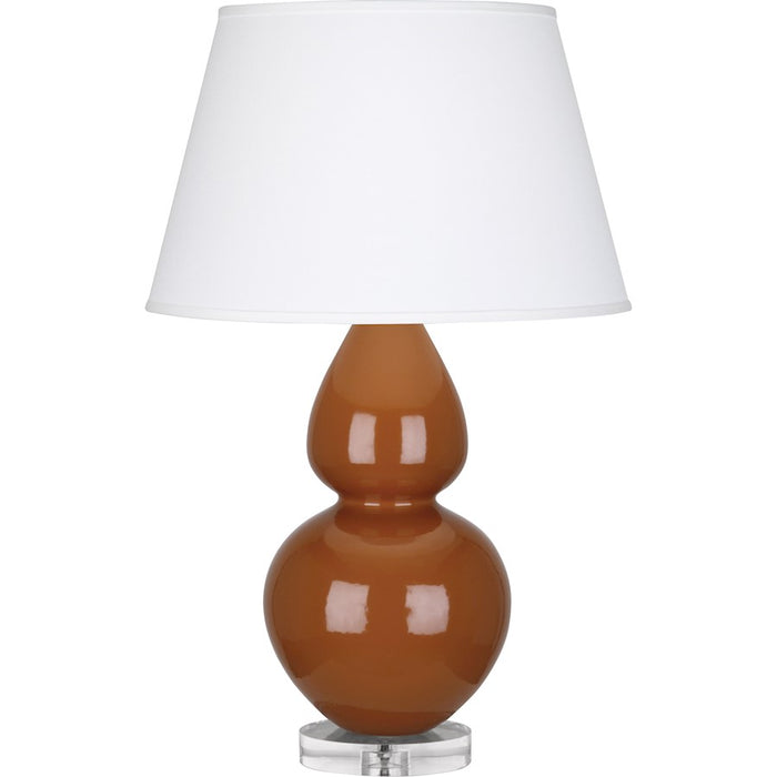 Robert Abbey Double Gourd Table Lamp, Cinnamon/Lucite Base, Pearl - A759X