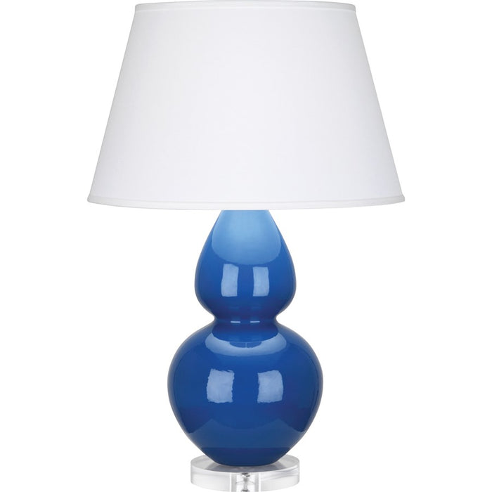 Robert Abbey Double Gourd Table Lamp, Marine Blue/Lucite Base, Pearl - A785X