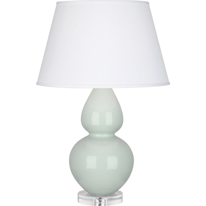 Robert Abbey Double Gourd 1 Light Table Lamp, Celadon/Lucite Base, Pearl - A791X