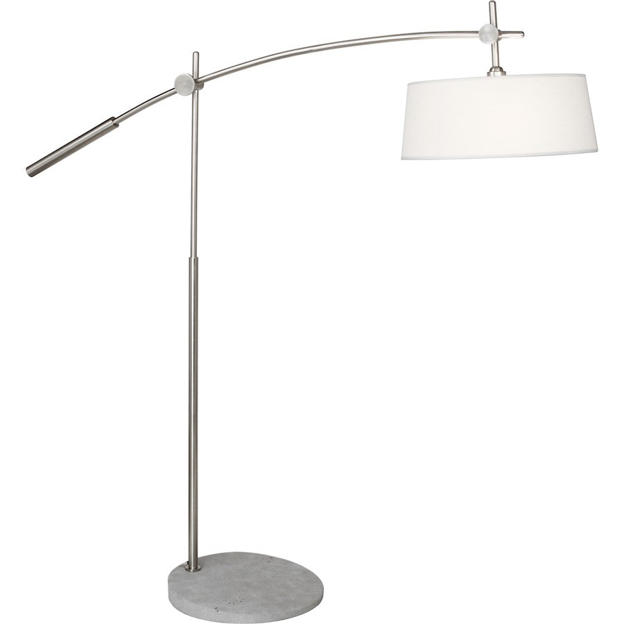 Robert Abbey Rico Espinet Miles 2 Light Floor Lamp, Brushed Nickel - B2097