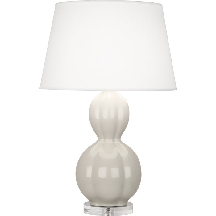 Robert Abbey Williamsburg Randolph Table Lamp, Soft Gray/Lucite Base - BW997