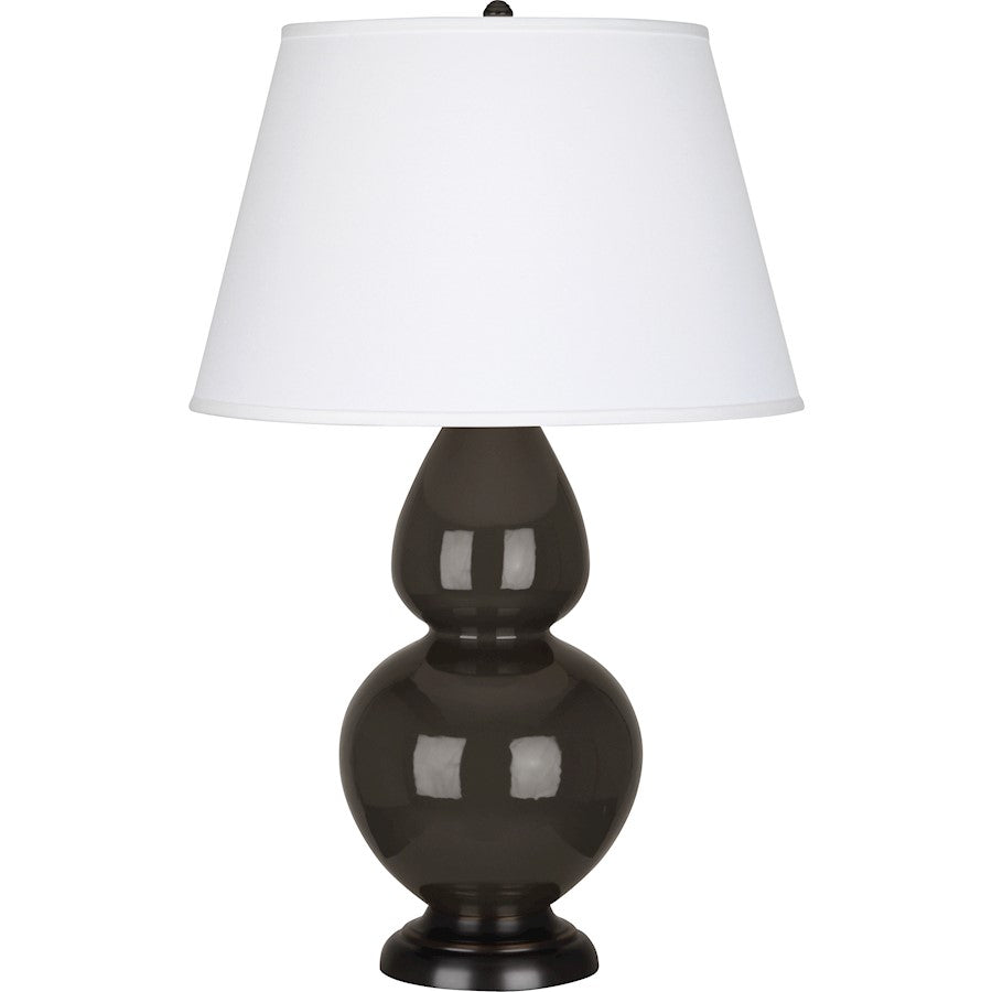 Robert Abbey Double Gourd 1 Light Table Lamp, Coffee/Bronze, Pearl - CF21X