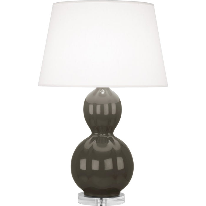 Robert Abbey Williamsburg Randolph Table Lamp, Gray Taupe/Lucite Base - CG997