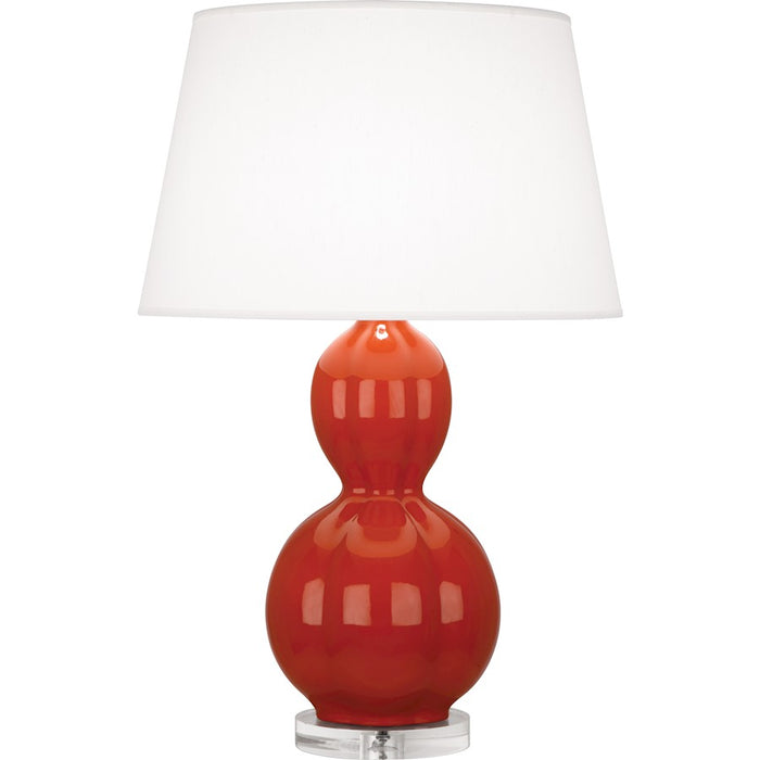Robert Abbey Williamsburg Randolph Table Lamp, Rusty Red Orange/Lucite - DB997