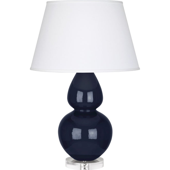Robert Abbey Double Gourd Table Lamp, Midnight Blue/Lucite Base, Pearl - MB23X