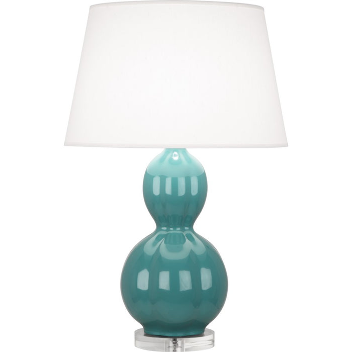 Robert Abbey Williamsburg Randolph Table Lamp, Blue Green/Lucite Base - MT997