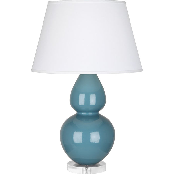Robert Abbey Double Gourd Table Lamp, Steel Blue/Lucite Base, Pearl - OB23X