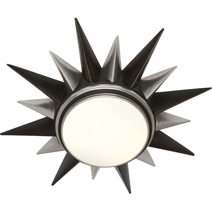 Robert Abbey Cosmos 2 Light Flushmount, Bronze/Silver and Frosted Glass - S1017