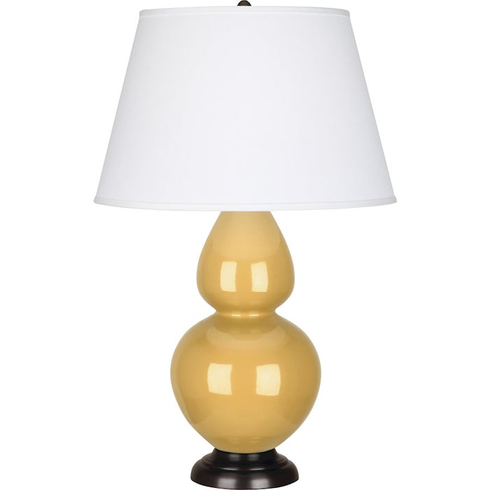 Robert Abbey Double Gourd Table Lamp, Sunset Yellow/Bronze, Pearl - SU21X