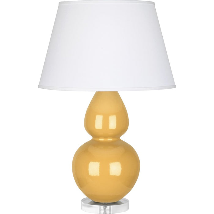 Robert Abbey Double Gourd Table Lamp, Sunset Yellow/Lucite Base, Pearl - SU23X
