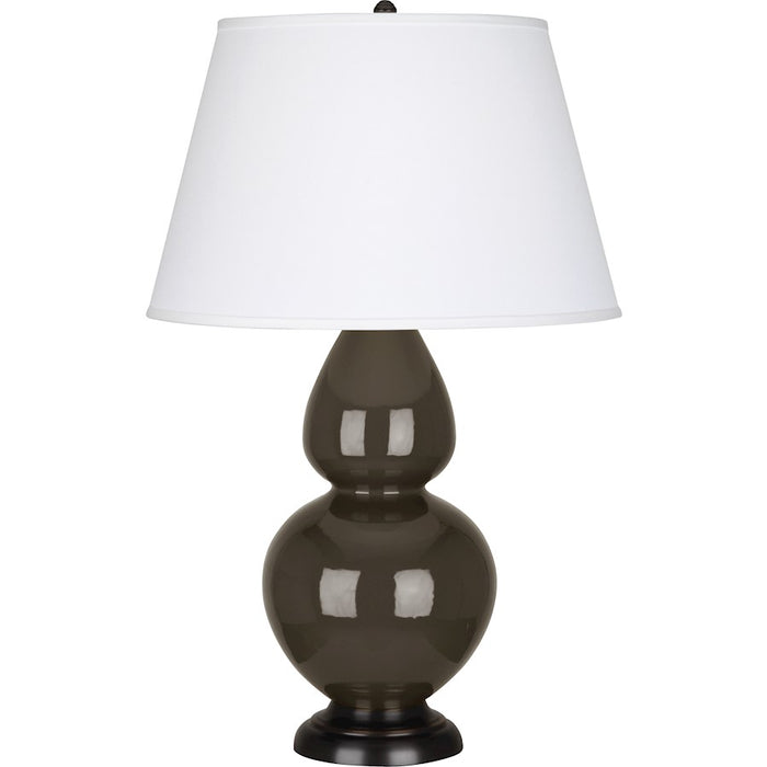 Robert Abbey Double Gourd 1 Light Table Lamp, Brown Tea/Bronze, Pearl - TE21X