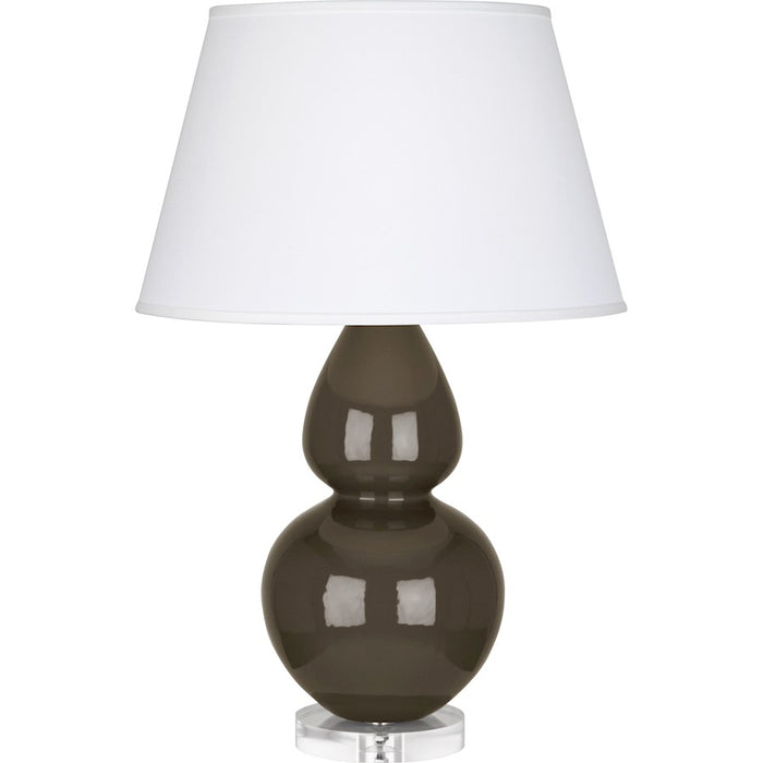 Robert Abbey Double Gourd Table Lamp, Brown Tea/Lucite Base, Pearl - TE23X