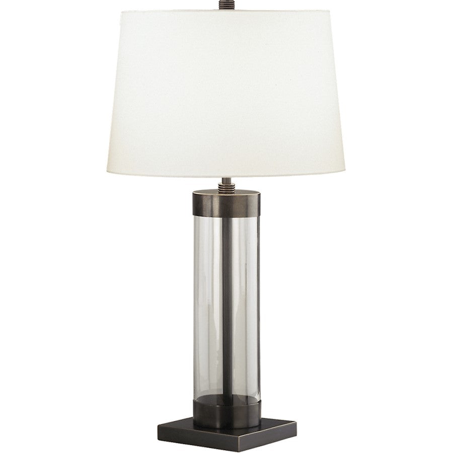 Robert Abbey Andre 1 Light Table Lamp, Clear Glass Cylinder/Bronze - Z3318