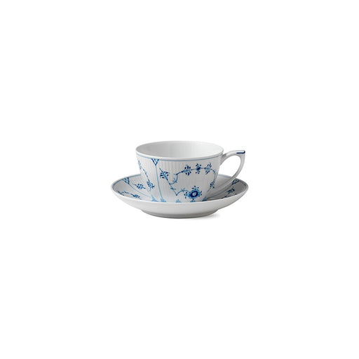 Royal Copenhagen Blue Fluted Pla in Tea Cup and Saucer