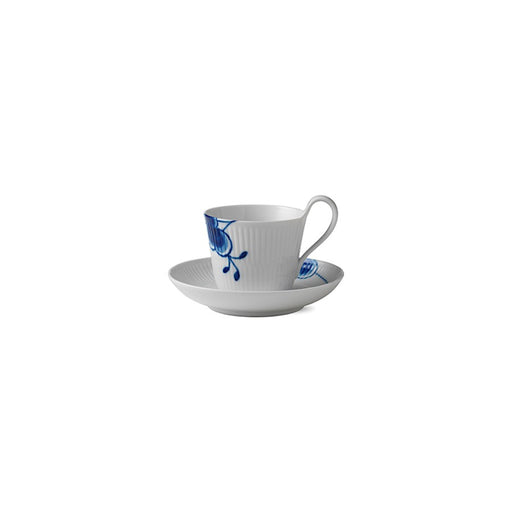 Royal Copenhagen Blue Fluted Mega High Handle Cup and Saucer #2