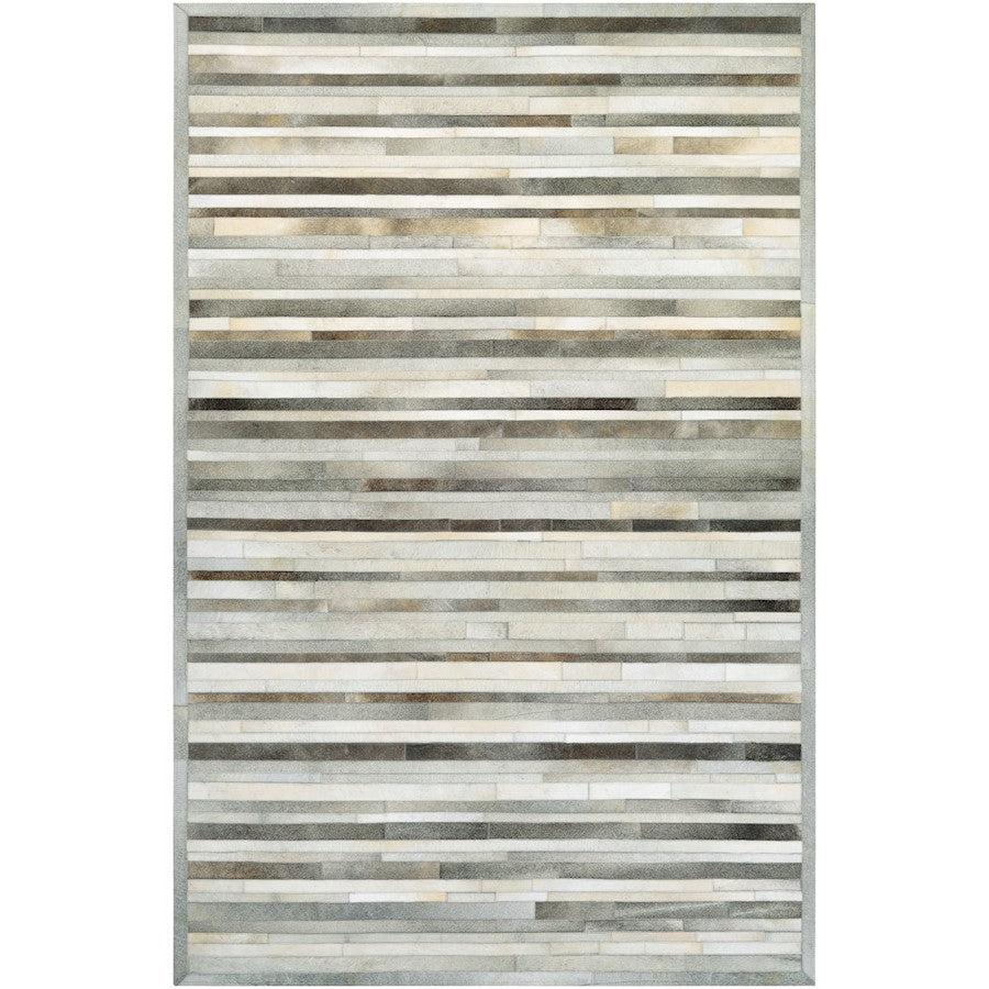 Couristan Chalet Plank Grey and Ivory Area Rug