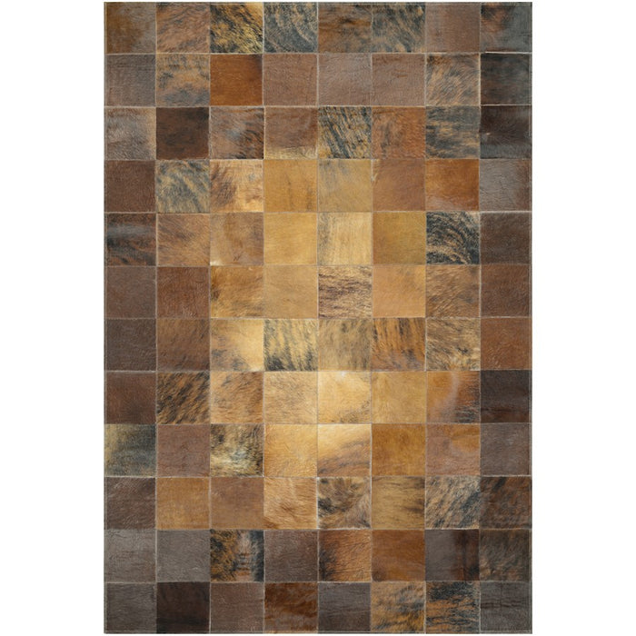 Couristan Chalet Tile Brown Area Rug