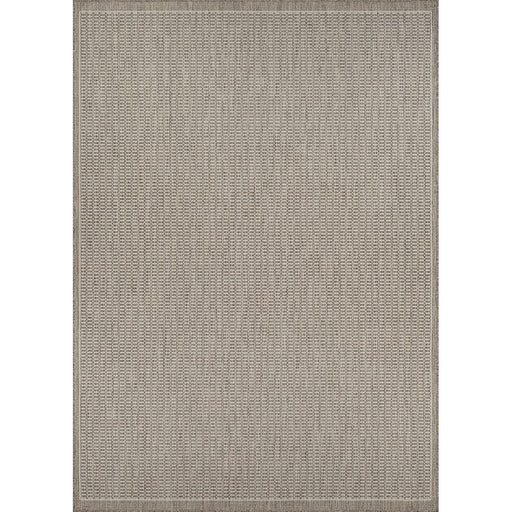 Couristan Recife Saddle Stitch Indoor/Outdoor Rug, Champagne & Taupe