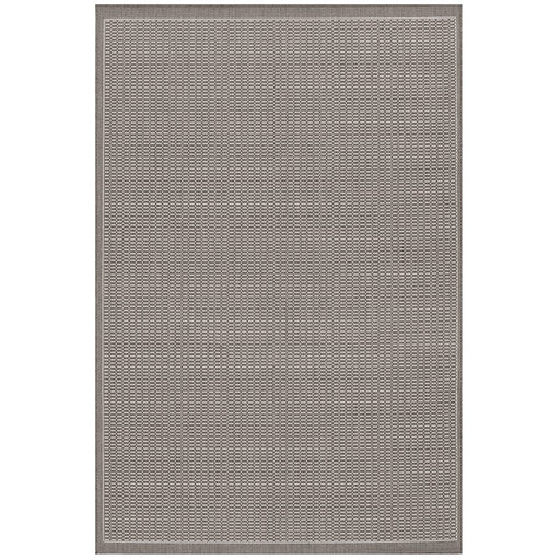 Couristan Recife Saddle Stitch Indoor/Outdoor Rug, Grey & White