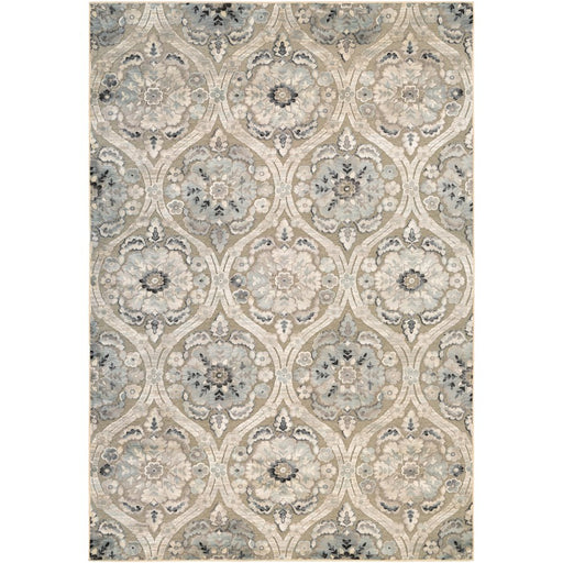 Couristan Circe Cherrington Rug, Greige & Antique Cream