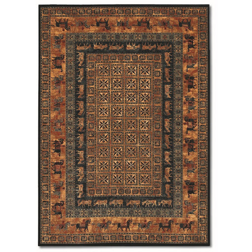 Couristan Old World Classics Pazyrk Rug, Burnished Rust
