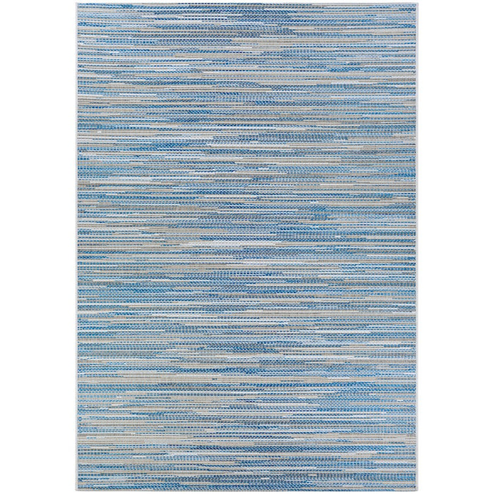 Couristan Coastal Breeze Indoor/Outdoor Rug, Ocean-Champagne