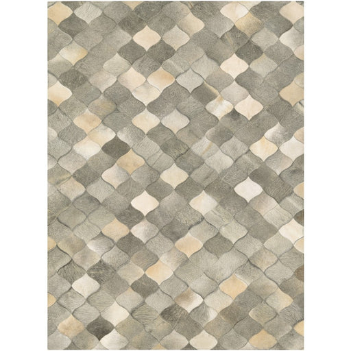 Couristan Chalet Diamonds Ivory and Grey Area Rug