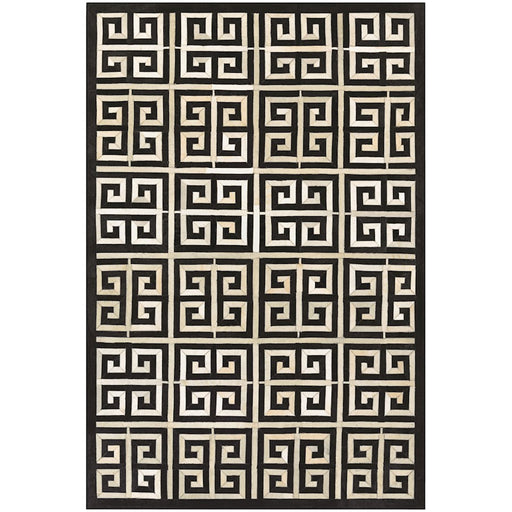 Couristan Chalet Meander Black and Ivory Area Rug