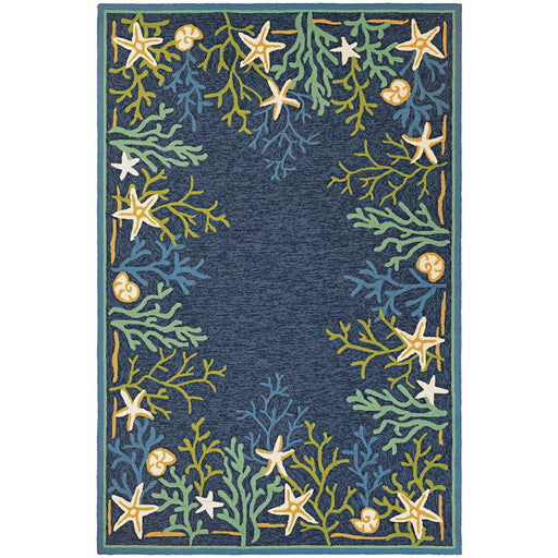 Couristan Outdoor Escape Sea Water Indoor/Outdoor Rug, Ocean & Aqua