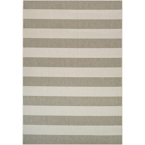 Couristan Afuera Yacht Club Indoor/Outdoor Rug, Tan & Ivory
