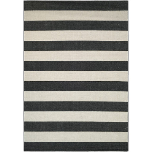 Couristan Afuera Yacht Club Indoor/Outdoor Rug, Onyx & Ivory