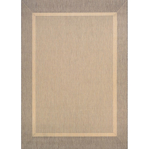Couristan Recife Stria Texture Indoor/Outdoor Rug, Natural & Coffee