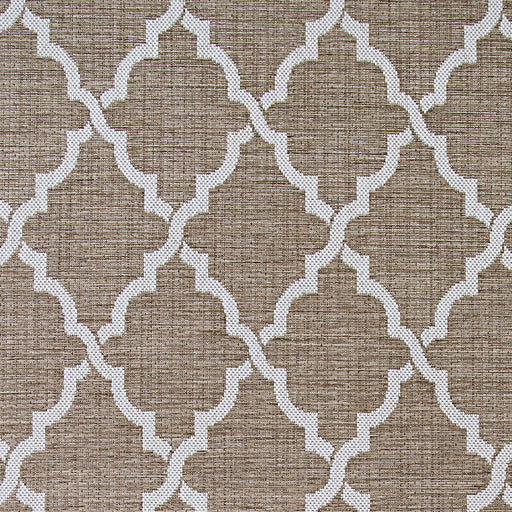 Couristan Monaco Ocean Port Indoor/Outdoor Rug, Taupe & Sand