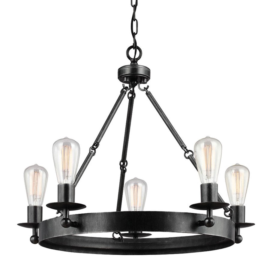 Sea Gull Lighting Ravenwood Manor Five Light Round Chandelier, Stardust