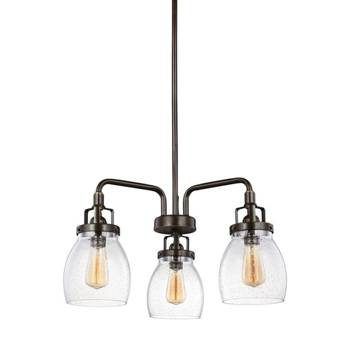 Sea Gull Lighting Belton 3 Light Chandelier, Heirloom Bronze