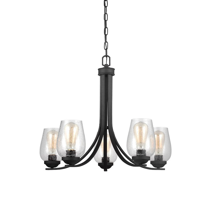 Sea Gull Lighting Morill Chandelier, Blacksmith