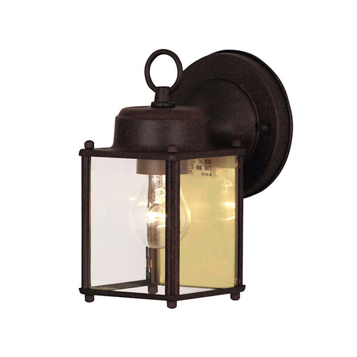 "Savoy House Exterior Collections 1 Light 5"" Wall Mount Lantern, Rust - 5-1161-RP"