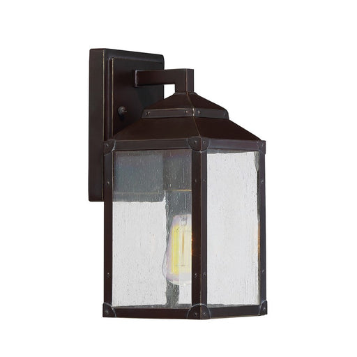 Savoy House Brennan Outdoor Wall Lantern, English Bronze w/ Gold