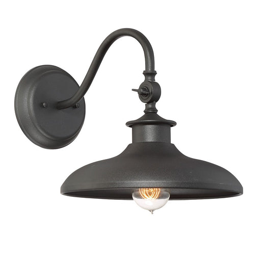 "Savoy House Raliegh 11"" Wall Lantern, Black"
